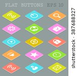 set of vector social icons on...