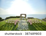 wedding set up | Shutterstock . vector #387689803