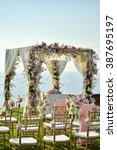 wedding set up | Shutterstock . vector #387695197