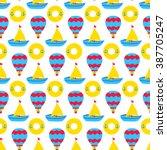 summer travel seamless pattern. ...   Shutterstock .eps vector #387705247