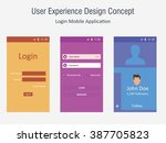 mobile application interface...