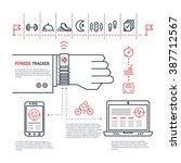 vector fitness tracker flat... | Shutterstock .eps vector #387712567