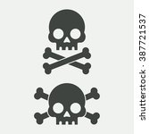 skull vector illustration.... | Shutterstock .eps vector #387721537