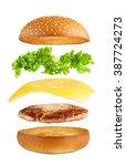american food. burger layers