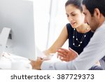 business people in modern office | Shutterstock . vector #387729373
