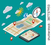 mobile navigation ... | Shutterstock .eps vector #387737953