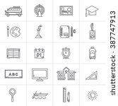 icon back to school vector... | Shutterstock .eps vector #387747913
