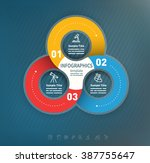 3 options abstract business... | Shutterstock .eps vector #387755647