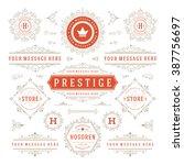 vintage vector ornaments... | Shutterstock .eps vector #387756697