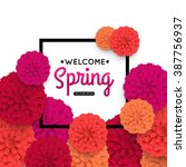 spring banner with colorful... | Shutterstock .eps vector #387756937
