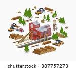 Lumber Mill. Sawmill Building....