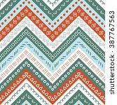 vector hand drawn seamless folk ...   Shutterstock .eps vector #387767563