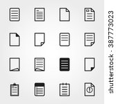 paper icons | Shutterstock .eps vector #387773023