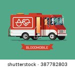 cool vector mobile blood... | Shutterstock .eps vector #387782803