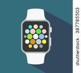smart watch flat icon. vector... | Shutterstock .eps vector #387785503