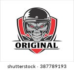 skull riders shield | Shutterstock .eps vector #387789193