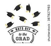 graduation icon design  | Shutterstock .eps vector #387827983