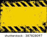 grunge danger background | Shutterstock .eps vector #387828097