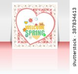 Welcome Spring Holiday Card....