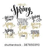 spring lettering design | Shutterstock .eps vector #387850393