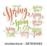 spring lettering design | Shutterstock .eps vector #387850483