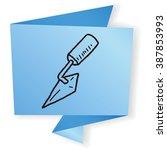 cement tool doodle   Shutterstock .eps vector #387853993
