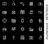 mobile line icons with reflect... | Shutterstock .eps vector #387870013