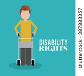 disability rights design ... | Shutterstock .eps vector #387883357