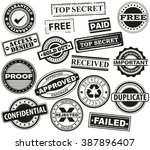 rubber stamps  badge  placard ...