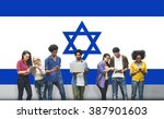 israel country flag liberty... | Shutterstock . vector #387901603