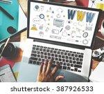 www website internet online... | Shutterstock . vector #387926533