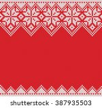winter holiday seamless knitted ... | Shutterstock .eps vector #387935503