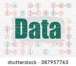 information concept  data on... | Shutterstock . vector #387957763