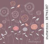 seamless grassy texture.endless ... | Shutterstock .eps vector #387961387