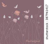seamless grassy texture.endless ... | Shutterstock .eps vector #387961417