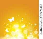 yellow summer sun light burst.... | Shutterstock . vector #387974467
