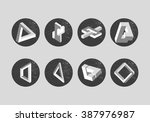 set of impossible objects.... | Shutterstock . vector #387976987