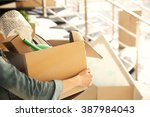 young woman holding open...   Shutterstock . vector #387984043