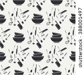 vector seamless kitchenware... | Shutterstock .eps vector #388001497