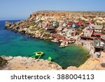 popeye village  malta  ... | Shutterstock . vector #388004113