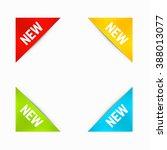 set of corner new labels in... | Shutterstock .eps vector #388013077