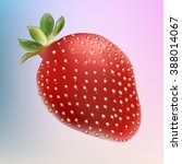 realistic strawberry on... | Shutterstock .eps vector #388014067