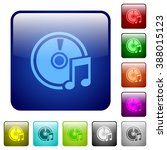 set of audio cd color glass...