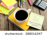 piece of note paper on grey...   Shutterstock . vector #388016347