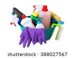 cleanser brush and rubber... | Shutterstock . vector #388027567