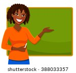 happy teacher of african... | Shutterstock . vector #388033357
