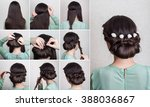 simple beautiful hairdo for... | Shutterstock . vector #388036867