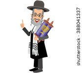 orthodox jew hassid rabbi with... | Shutterstock .eps vector #388041337