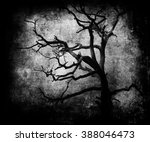 scary tree  beautiful vintage... | Shutterstock . vector #388046473
