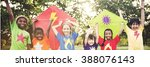 kids children playing happiness ... | Shutterstock . vector #388076143